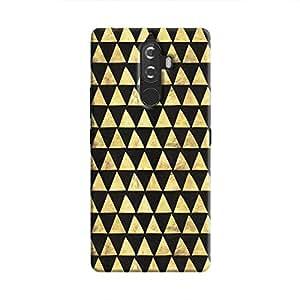 Cover It Up - Gold Black Triangle Tile Lenovo K8 Note Hard Case