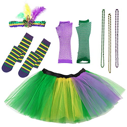 Mardi Gras Tutu (Dreamdanceworks Mardi Gras Tutu Women Plus Size Adult Costume Accessories)