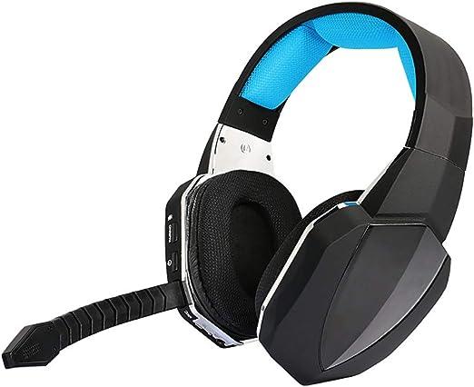 C- Auriculares para Juegos para Xbox One, PS4, PC, Auriculares para Juegos inalámbricos con micrófono, Sonido estéreo, cancelación de Ruido, Orejeras Suaves para Colocar sobre Las Orejas,Azul: Amazon.es: Hogar