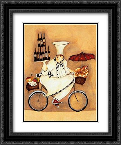 Wine Peddler 2X Matted 11x13 Black Ornate Framed Art Print by Jennifer -