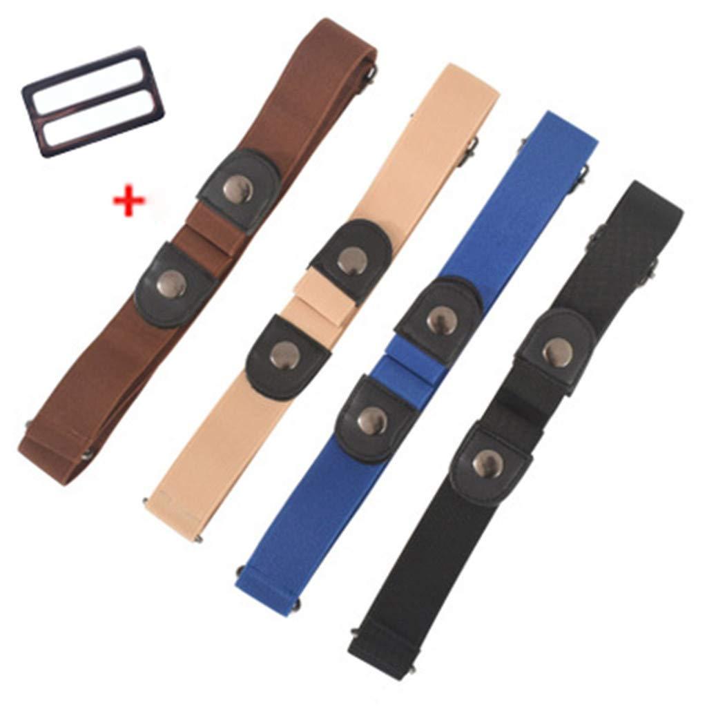 Unisex G/ürtel Canvas Belt f/ür Herren und Damen Kein Bauch Kein Stress Blau Plus Size Elastischer Unsichtbare G/ürtel ohne Schnalle,stufenlos verstellbarer Stoffg/ürtel