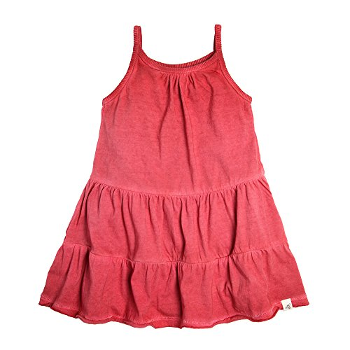 Burt's Bees Baby Baby Girl's Toddler Dress, 100% Organic Cotton, Red Barn Pigment Dye, 4T