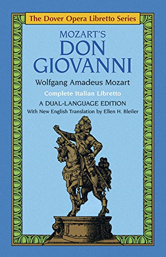 Don Giovanni (Dover Opera Libretto Series) (Italian and English Edition)