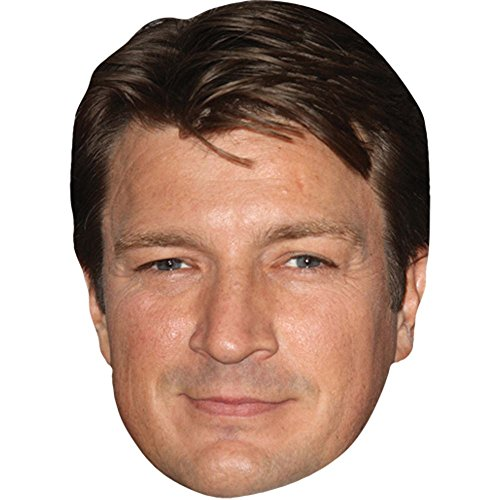Nathan Fillion Scary Halloween Costumes - Nathan Fillion Celebrity Mask, Card Face