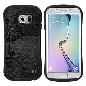 "Hypernova Slim Fit Dual Barniz Protector Caso Case Funda Para Samsung Galaxy S6 EDGE [Textura Negro""]"