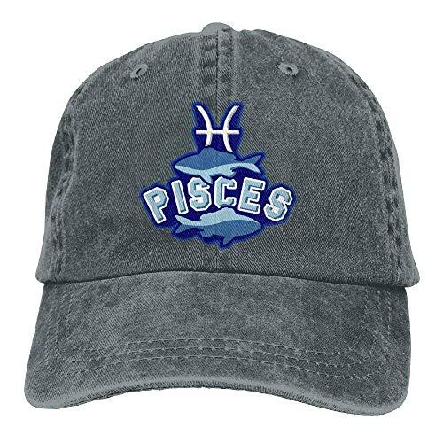 Pisces Denim Hat Sign Symbol béisbol Adjustable Gorras Hat Baseball ruishandianqi Zodiac q1pFwPngxB