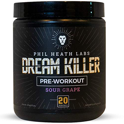 Phil Heath Labs - Dreamkiller Preworkout - Teacrine, Vaso6, Creatine and Beta Alanine - Get Energy, Focus and Pump a Great Tasting Drink (Sour Grape)