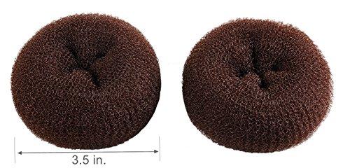 CLOTHOBEAUTY 2 pieces Large Size Hair Bun Donut Maker, Ring Style Bun, Women Chignon Hair Donut Buns Maker,Hair Doughnut Shaper Hair Bun maker
