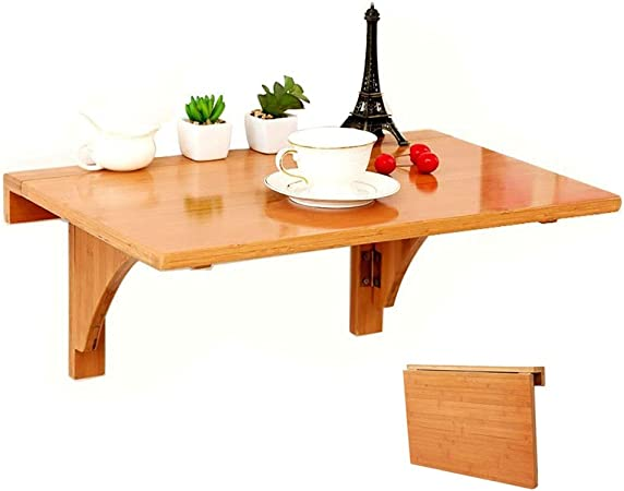 Mural Table Pliante Table A Abattant Murale En Bois Table Murale A Gain De Place Pour Cuisine D Etude Bureau D Ordinateur Flottant Size 80 55cm Amazon Fr Cuisine Maison