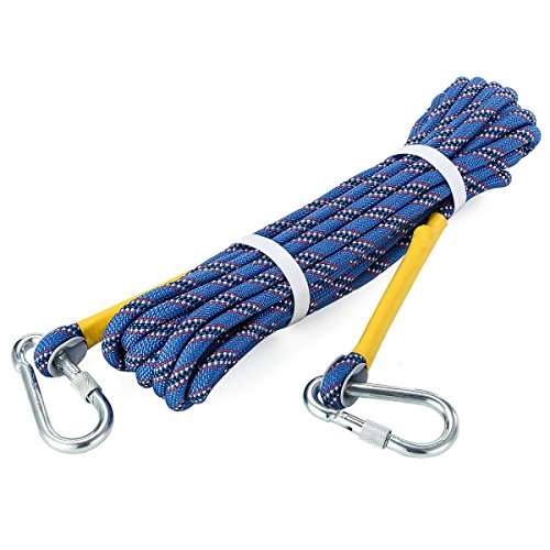 HandAcc Outdoor Climbing Rope 10M(33ft) 20M(66ft) 30M (98ft) 50M(164ft) 60M(197ft) Rock Climbing Rope, Diameter 10mm, Escape Rope Climbing Equipment Fire Rescue Parachute Rope