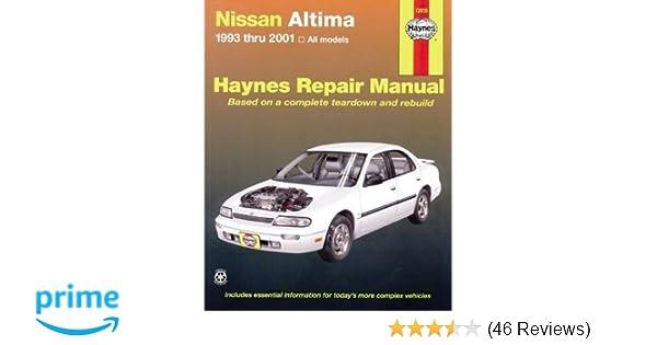 nissan altima 1993 thru 2006 haynes repair manual john h haynes rh amazon com haynes manual nissan altima 2006 nissan altima haynes manual
