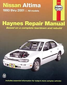 nissan altima 1993 thru 2006 haynes repair manual john h haynes rh amazon com 1994 Nissan Altima 2015 Nissan Altima
