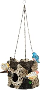 Spoontiques Birds/Tree Stump Birdhouse