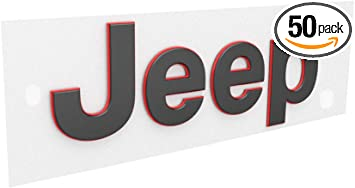 JEEP WRANGLER JL RUBICON Set Of 2 Red Trail Rated Fender Badges  NEW OEM MOPAR