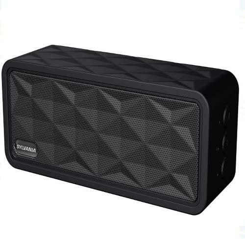 Sylvania SP262-BLACK Rugged Portable Bluetooth Speaker Renewed