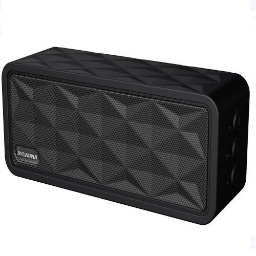 Sylvania SP262-BLACK Rugged Portable Bluetooth Speaker (Renewed)