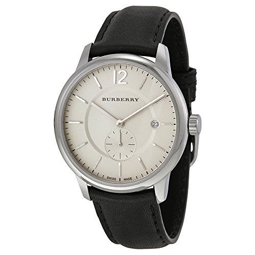 Burberry Classic Round Beige Dial Black Leather Mens Watch BU10000   Amazon.ca  Watches 2b97c9684ee