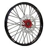 Warp 9 Complete Wheel Kit - Rear 18 x 2.15 Black Rim & Spokes/Red Hub & Nipples for Honda CRF450X 2005-2009