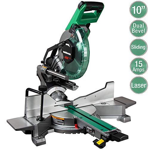 Metabo HPT 10-Inch Sliding Miter Saw | Zero Rear Clearance