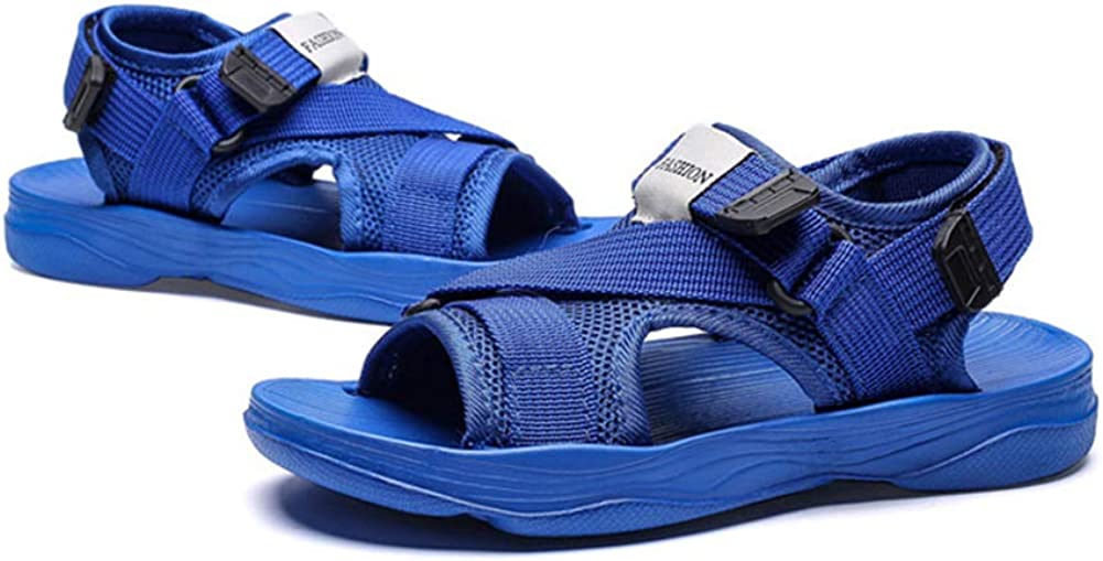 Mobnau Open Toe Skidproof Athletic Beach Sandals for Boys Blue 33 2.5 M US Little Kid