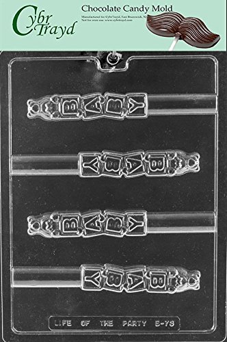 - Cybrtrayd Life of the Party B073 Baby Block Pretzel Chocolate Candy Mold in Sealed Protective Poly Bag Imprinted with Copyrighted Cybrtrayd Molding Instructions