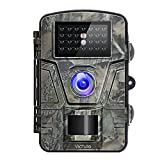 Victure Trail Camera 1080P 12MP Wildlife Camera Motion Activated Night Vision 20m with 2.4'' LCD Display IP66 Waterproof Design for Wildlife Hunting and Home Security 【New Version】