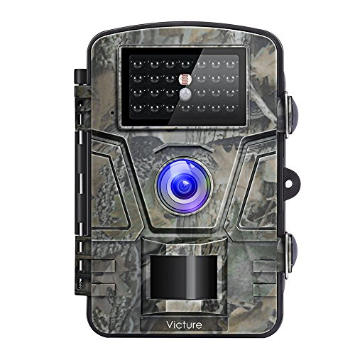 ?Upgraded?Victure Trail Camera 1080P 12MP Wildlife Camera Motion Activated Night Vision 20m with 2.4 LCD Display IP66 Waterproof Design for Wildlife Hunting and Home Security