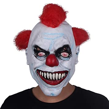 Halloween Horror Mask Party Prom Props Latex Head Cover Máscara Payaso Cosplay Casco Halloween