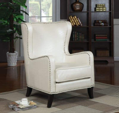 Coaster Accent Chair-Pearlized White - Pearlized Accent