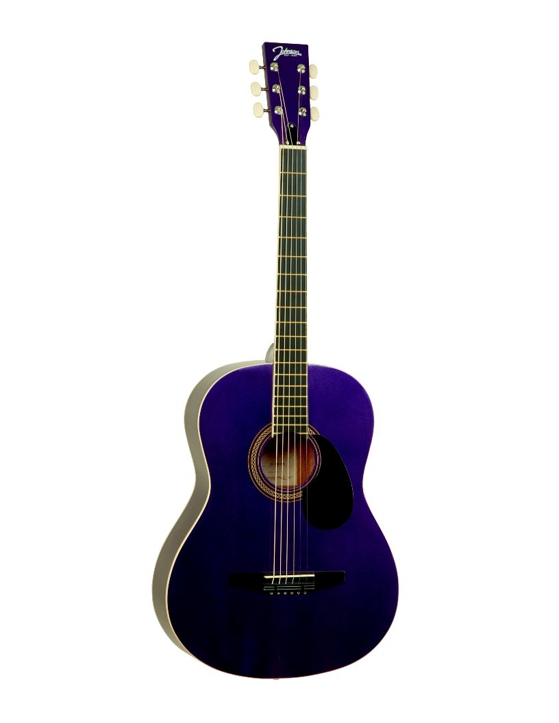 Johnson Guitars JG-100-SPL Student Acoustic Guitar, Sparkle Purple