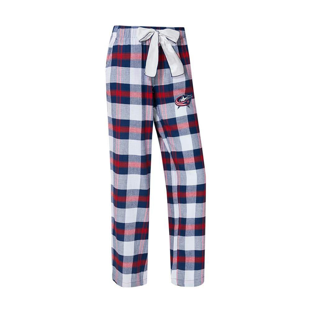 Concepts Sport Columbus Blue Jackets Womens Flannel Pajamas Plaid PJ Bottoms