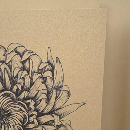 Chrysantheme Geburtstagskarte. Chrysantheme Recycling-Gru/ßkarte