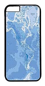 "ICORER Unique iphone 6 plus Case, Mercator Map World Polycarbonate Hard Case for Apple iPhone 6 Plus 5.5"" Black"