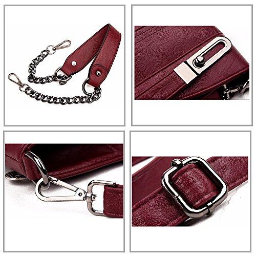 Messenger Bag Shoulder Leather Women's PU Handbag Tote Crossbody Black Leparvi Retro Bag EznBxvvq