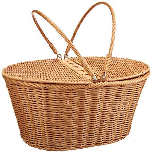 "Kovot Picnic Baskets | Measures 16"" x 13.5"" x 7.5"" | for Picnics, Parties and BBQs (Poly-Wicker)"