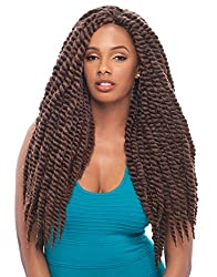 "Janet Collection Noir 2X Mambo Twist Braid 24"" Color 1(Jet Black)"