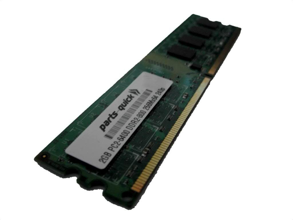 PARTS-QUICK Brand 2GB Memory for Intel DP965LT Motherboard DDR2 PC2-6400 800MHz DIMM Non-ECC RAM Upgrade