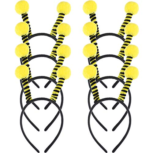 8 Pieces Bee Tentacle Hair Bands Hair Hoop Party Headbands for Kids Women Party ()