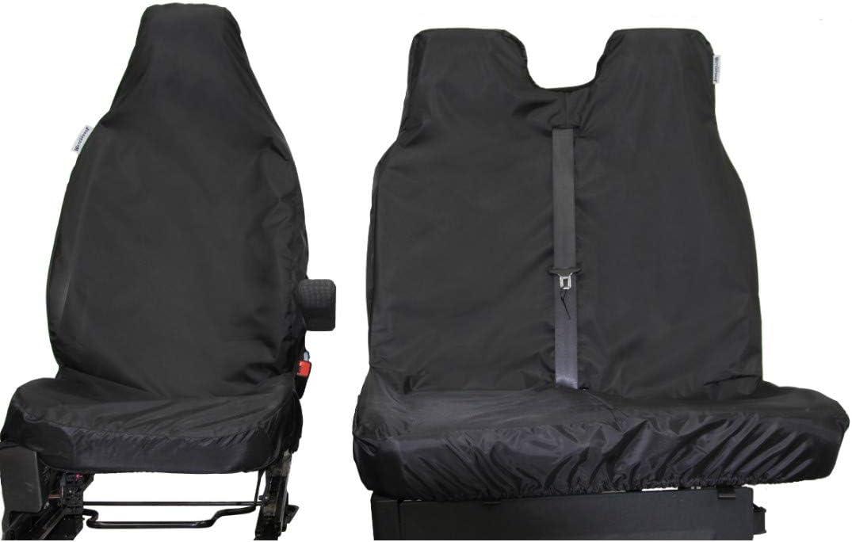 Juego de fundas impermeables para asiento delantero semi a medida de 3 asientos para Fiat Ducato Van muy resistente