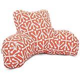 Majestic Home Goods Aruba Reading Pillow, Orange