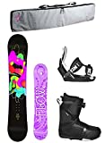 womens 140 snowboard package - Flow 2018 Pixi Women's Complete Snowboard Package Bindings BOA Boots Padded Bag - Board Size 140 (Boot Size 7)