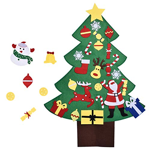 3FT DIY Christmas Tree for Kids with 28PCs Felt Ornaments, Classroom Door & Wall Decorations, DIY Toys, Party Favor]()
