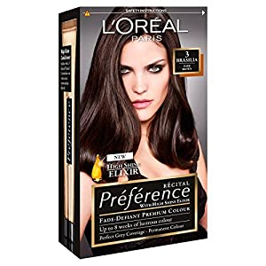 L39Oreal Recital Preference Hair Color Brasilia Dark Brown 3 Amazoncouk