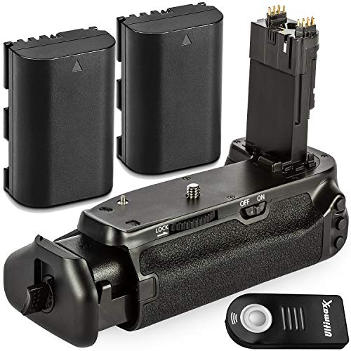 Ultimaxx Battery Grip Replacement for BG-E21 for Canon EOS 6D Mark II DSLR Camera with Starter Accessory Bundle – Includes: 2X Extended Life LP-E6 Batteries and Wireless Shutter Remote