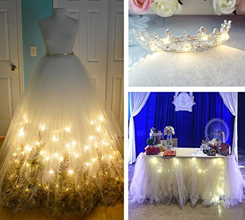 DUKORA 6 PCS Fairy Lights LED String Lights Battery Operated 20 LED 7.2ft Firefly Lights Starry String Lights for DIY Wedding Centerpiece, Christmas Decoration, Bedroom Cool White by DUKORA (Image #4)