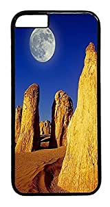 ACESR Canyon Moon iphone 4 4s Hard Case PC - Black, Back Cover Case for Apple iphone 4 4s( inch)