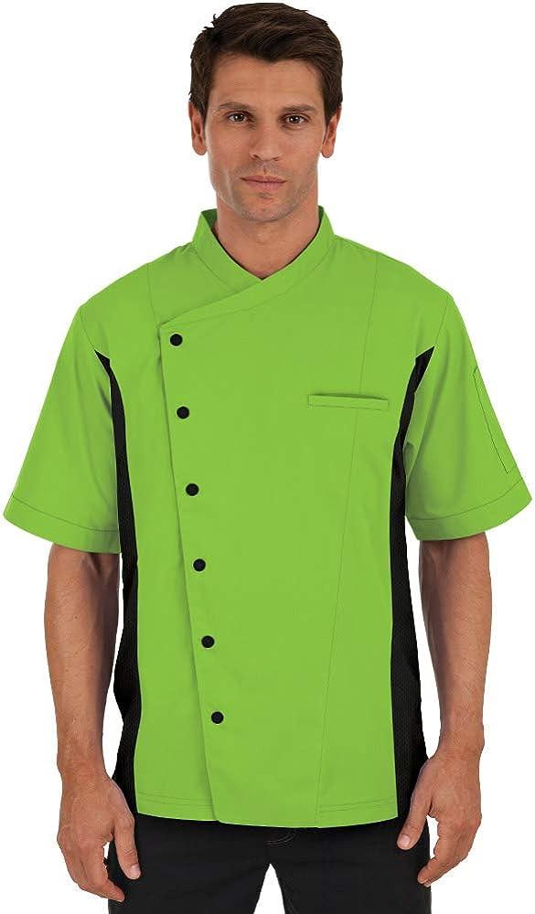 Men's Chef Coat with Mesh Sides Panels (XS-3X, 6 Colors)