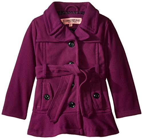 Price comparison product image Urban Republic Little Girls' Toddler Wool Belted Coat, Purple, 2T