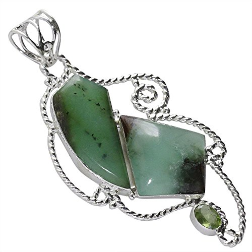Chrysoprase Pendant, For Divine Truth, Joy, Happiness and Healing , Green Color