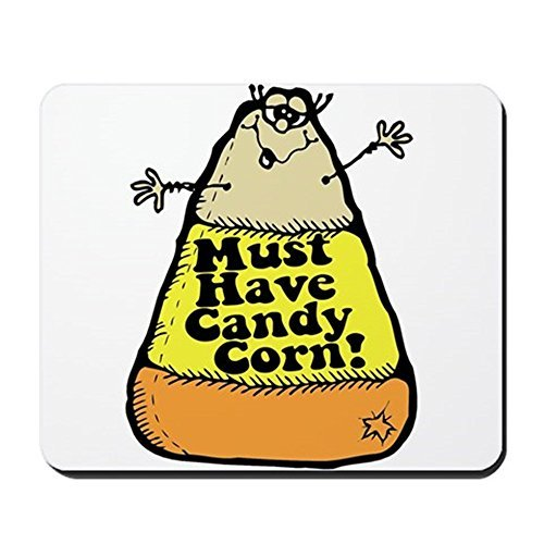 Gaming Mouse Pad for Notepad Funny Halloween Candy Corn Non-slip Rubber School Desk Decor Mouse Pad for Laptop 10 x 8 Inch
